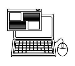 Isolated laptop device design Stock Illustration