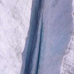Crevasse on Aletsch glacier - Switzerland Stock Footage