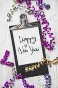 New Years Eve Background with white card Stock Illustration