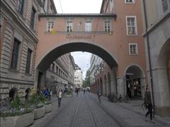 Maffeistraße street in Munich, Germany Stock Footage