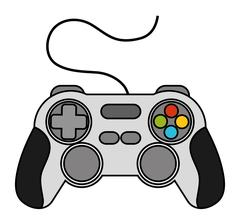 Isolated videogame control design Stock Illustration