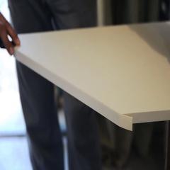 Board chipboard cut parts Stock Footage