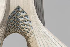 View of the Azadi Tower in Tehran. Kuvituskuvat