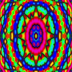 Psychedelic Colorful Stained Glass Kaleidoscope Motion Background Loop Fast Stock Footage