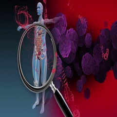 Immunity Against Diseases with particle Stock Footage