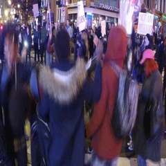 Black Lives Matter dances and stops traffic Stock Footage