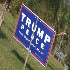 Pro-Trump voter sign in Florida Stock Footage