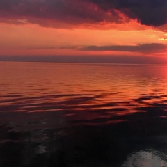 Seacoast, sunset moment. Stock Footage