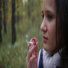 Finish smoking a cigarette harmful Stock Footage