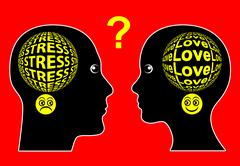 Love and Stress Stock Illustration