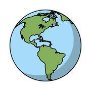 Isolated planet sphere design Stock Illustration