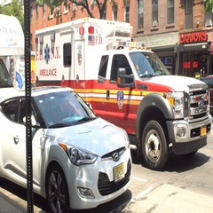 Ambulance in Brooklyn Stock Footage