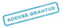 Access Granted Text Rubber Stamp Stock Illustration