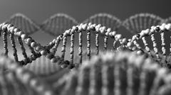 Monochrome DNA molecules. Genetic disease, modern science or molecular Stock Illustration