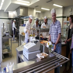 Lunch in a commercial kitchen. Stock Footage