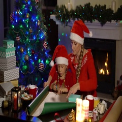 Gift wrapping for Christmas and New Year Stock Footage