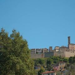 Panorama of Volterra, Tuscany, Italy Stock Footage