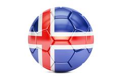 Soccer ball with flag of Iceland 3D rendering Piirros
