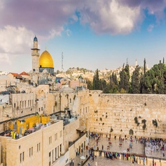 View to Western Wall or Kotel in Jerusalem - Time Lapse Stock Footage