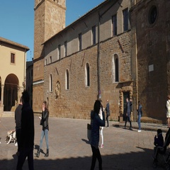 Volterra Cathedral and its Bell Tower Stock Footage