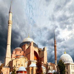 Hagia Sophia in Istanbul. The world famous monument of Byzantine architecture Stock Footage