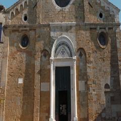 Volterra Cathedral Facade Stock Footage