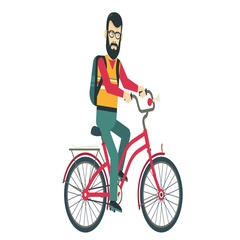 Hipster on bike AM Stock Footage