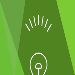 Green power video advertisement, intro. Animated bulb flickering Arkistovideo
