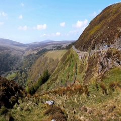 Motoring in Co. Wicklow, Ireland Stock Footage