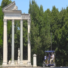 Villa Borghese, Rome, Italy, view of Antonino and Faustina temple Stock Footage