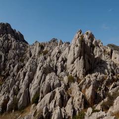 Amazing Mali Alan Trail, Velebit, Croatia Stock Footage