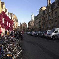 Oxford City Street outside the University Arkistovideo