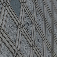 Arab World Institute, IMA, Paris - pan exterior facade design Stock Footage
