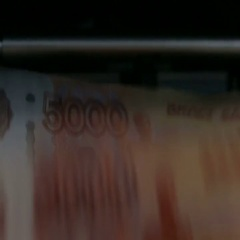Counting Cash Money Machine Stock Footage
