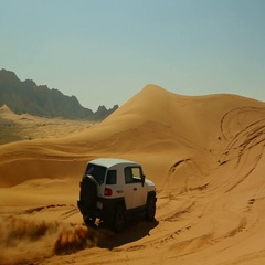 Car drifting on desert. Stock Footage