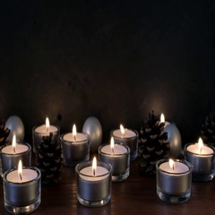 Tea Light Christmas Still Life Stock Footage