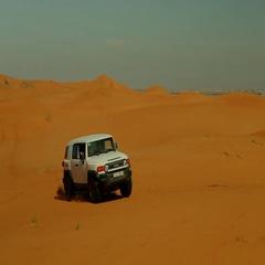 Car drift on desert. Stock Footage