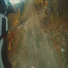 Extreme camera.Riding on Enduro motorcycle in the rough terrain Stock Footage