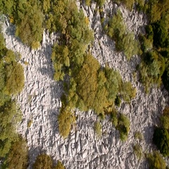 Aerial,Vertical Flight Along Croatian Coast-Line - Graded and stabilized version Stock Footage