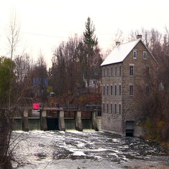 A mill on a river Stock Footage