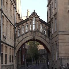 Oxford City University Bridge Building Stock Footage