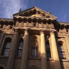 Oxford University Pan Down shot Arkistovideo