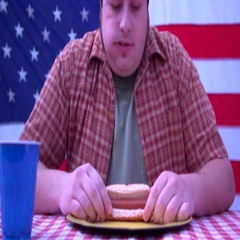 Hot dog eating contest Stock Footage