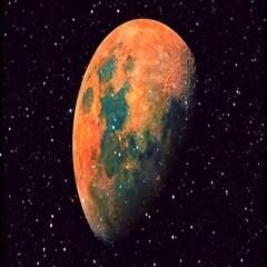 Tars Flight Planet In Space Vj Loop Stock Footage