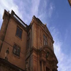 Oxford University Building with chimney smoke Arkistovideo
