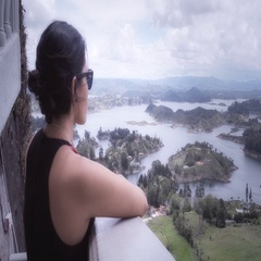 Watching horizon from a panoramic view Stock Footage