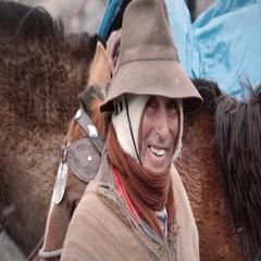 Elder peruvian man smiling to the camera Stock Footage