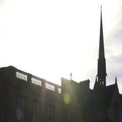 SunSet over Oxford University Arkistovideo