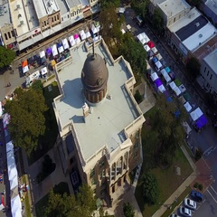 Downtown Georgetown, Texas Aerial Arkistovideo
