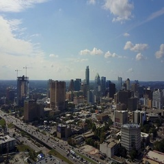 Downtown Austin, Texas and I-35 Stock Footage